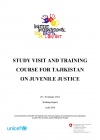 Study Visit and Training Course for Tajikistan on Juvenile Justice